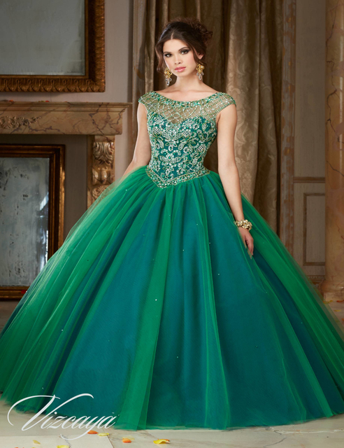 ae4998ae01c Heavy Beaded Turquoise Quinceanera Dress Plus Size Ball Gown Girl 15 Years  Party Debutante Gowns Sweet 16 Dresses Vestidos 2016