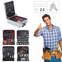 Newest Tool Kit 621 PCS/Set Tool Trolley Set With Aluminum Alloy Carrying Box Precision Garage Mobile Workshop Toolbox