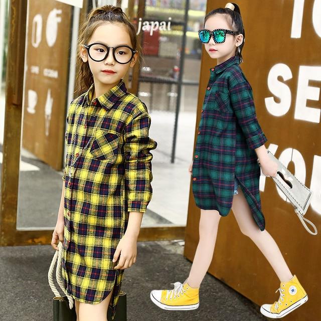 880991c72 girls shirt spring and autumn children long shirt 4 13 year old girl ...