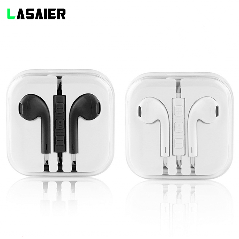 Wired 3.5mm Earphones Super Bass Earphones Headset Hands Free Earbuds With Mic For Huawei Xiaomi IPhone Samsung S4 S5 S6 S7 S8