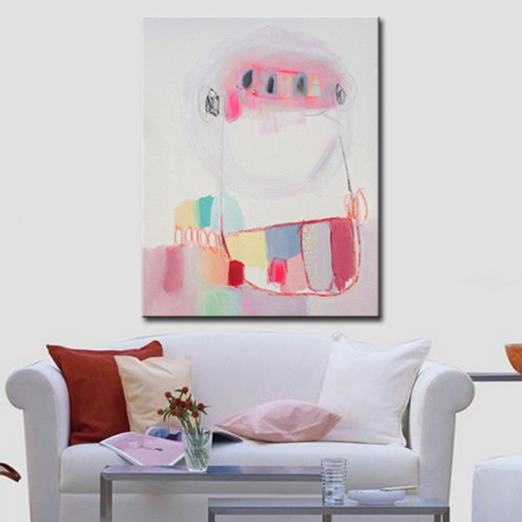 100% Hand Painted Modern Simple Color Abstract Painting on Canvas Wall Art for Decoration sale online No Frame