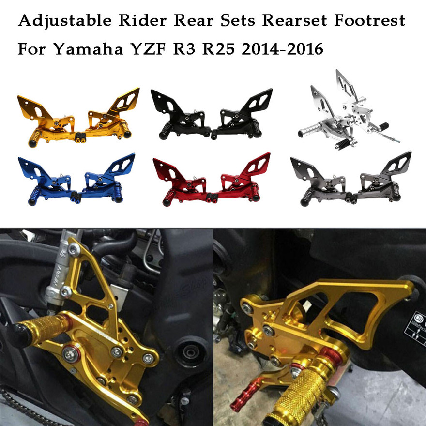 New CNC Aluminum Adjustable Rider Rear Sets Rearset Footrest For Yamaha Motorcycle Accessories Practical Durable High