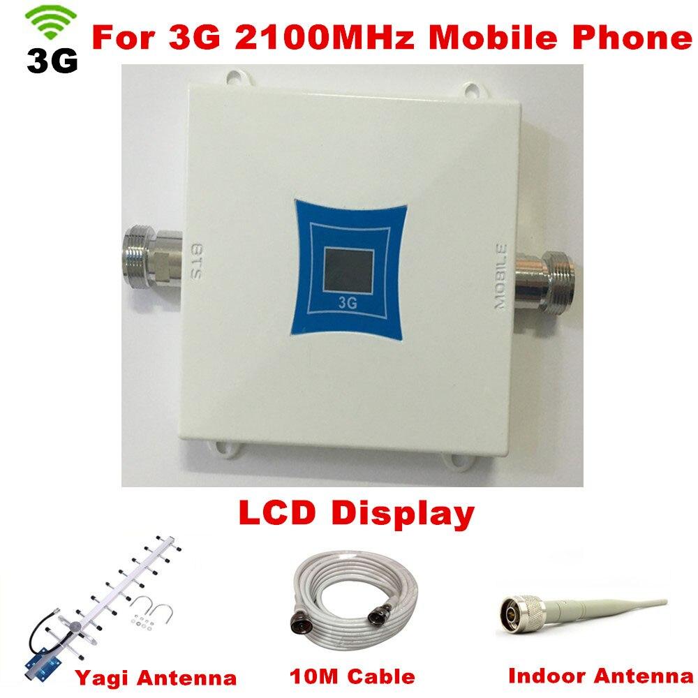 2100 MHZ Yagi Antenne extérieure + Antenne intérieure, 3G Répéteur Booster Amplificateur Récepteurs, WCDMA booster Cellulaire Téléphone Répéteur de Signal