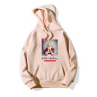 Marilyn Monroe Hoodies For Women Fall 2018 Lady's Pink Casual Female Autumn Apricot Sweatshirt With a Hooded Pullovers Clothes
