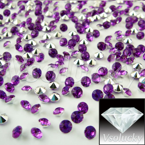 Event & Party Lower Price with Diamond Confetti Purple&silver 10000 Pcs/bag 4.5mm 1/3carat Crystal Wedding Table Scatter Decoration Bridal Shower Wedding Party Home & Garden