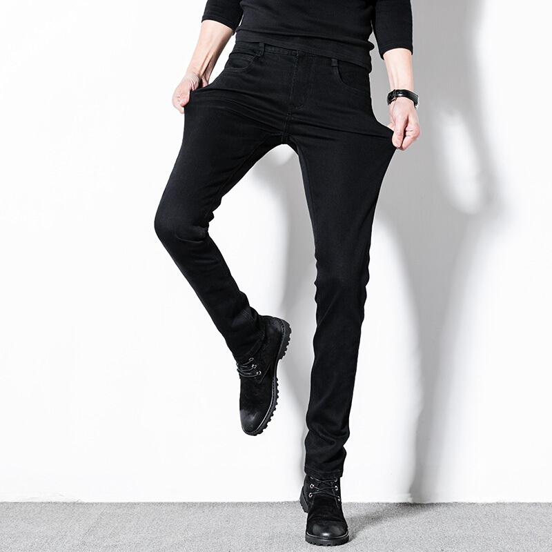 Warm World Jeans, Men's Skinny Leggings, Spring Pants, Fall 2018, New Trends, Black, Thin, Casual Feet
