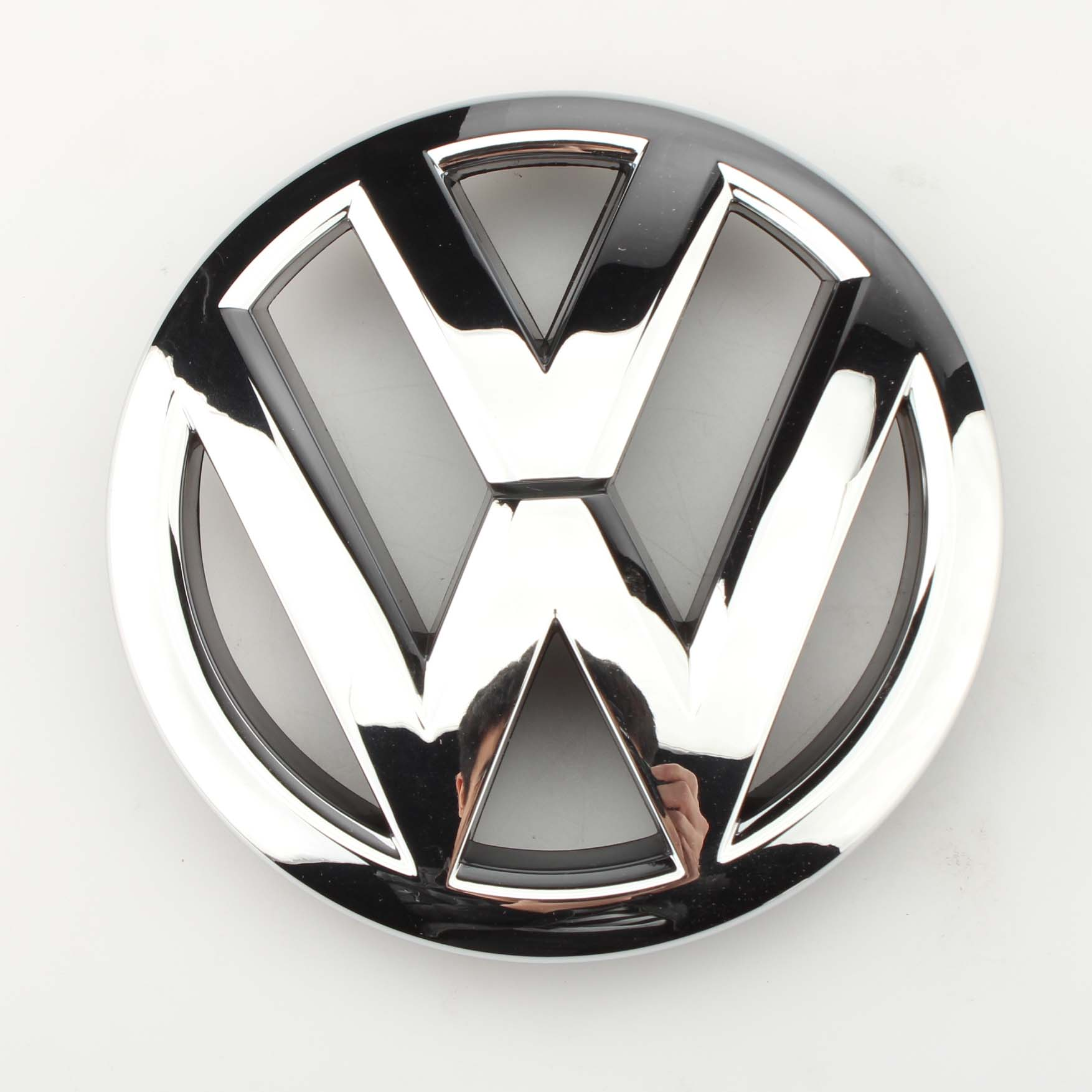 1x OEM Front Grille Grill Emblem Chrome Silver VW Logo Badge for VW Polo/Derby/Vento-IND 2010-2019 6R0 853 600 A ULM new auto car super bee for charger srt8 front grill grille emblem badge 02