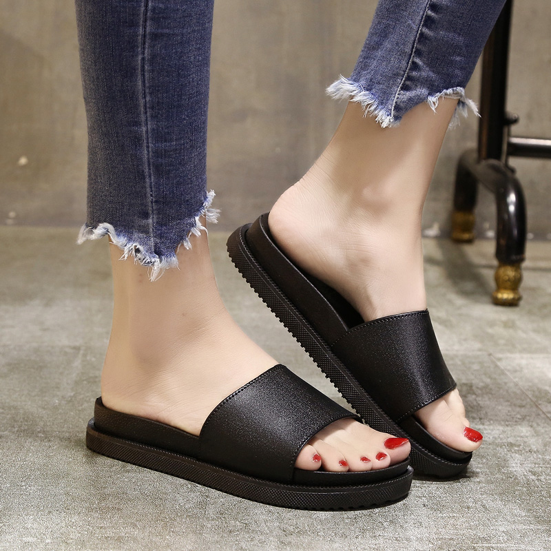 Basic Home Slippers Woman Concise Casual Beach Flat With Shoes Indoor Outdoor Slip On Slippers Female Platform ShoesBasic Home Slippers Woman Concise Casual Beach Flat With Shoes Indoor Outdoor Slip On Slippers Female Platform Shoes
