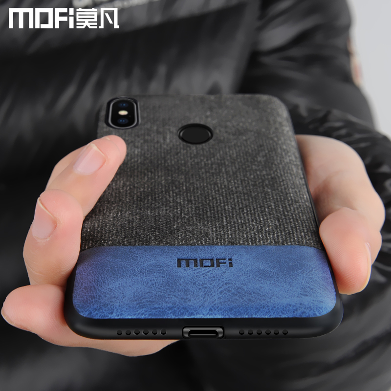 Xiaomi Redmi Note 5 Pro case cover note5 global version back cover silicone edge fabric case coque MOFi Redmi note 5 pro case