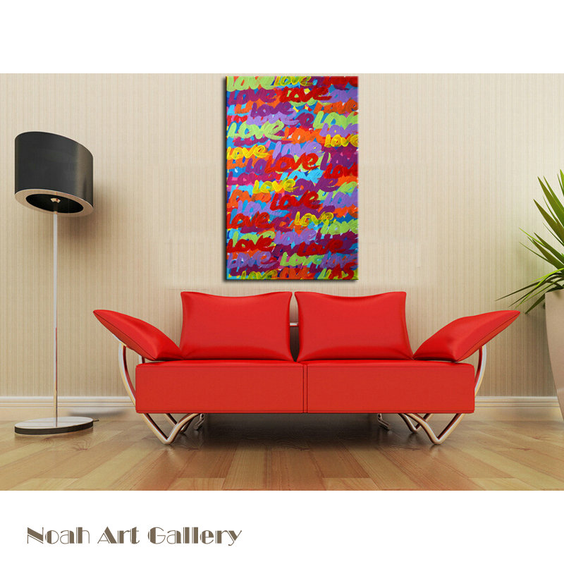 Acrylic Oil Paint Abstract Canvas Art Words Love For Living Room Decoration  Wall Painting For Sale Online 100% Hand Painted In Painting U0026 Calligraphy  From ... Part 91