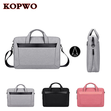 KOPWO Universal Laptop Bag Black Gray Pink Notebook Shoulder Bag for font b Apple b font