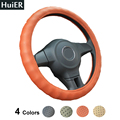 New Breathable Danny Leather Hole Car Steering Wheel Covers 4 Colors Non-slip Universal For 37-38CM Steering-wheel Free Shipping