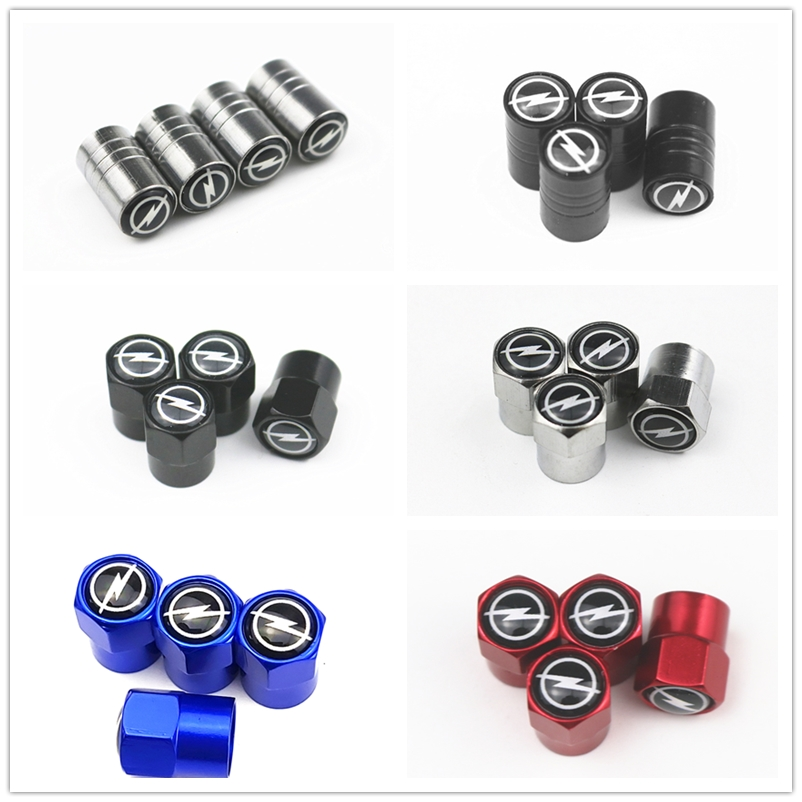 2019 New Wheel Caps Theftproof Metal Car Wheel Tires Valves Tyre Stem Air Valve Caps Airtight Cove For Opel Car Accessories