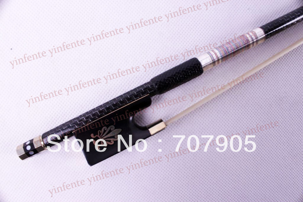 Violin Bow Top Pure Carbon fiber grid lever body Add Golden / silver  Color String Straight комбинезон тузик холодный такса большая сука