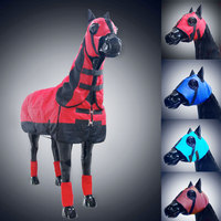 Equestrian Horse Head Eyes Face Cover Waterproof Breathable Wind Protection Equipment Horse Riding Cheval Racing Paardensport