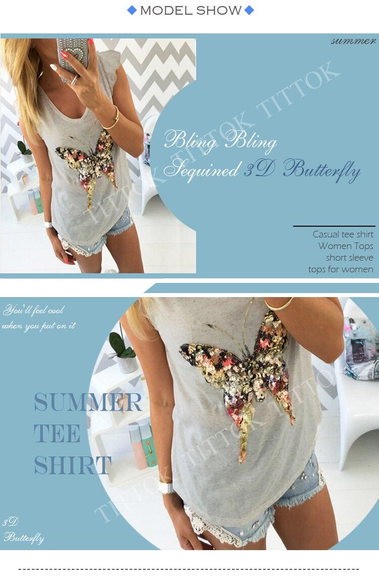 HTB16ndJRXXXXXcIXpXXq6xXFXXX9 - T shirts for women 3D Butterfly short Sleeve womens clothing