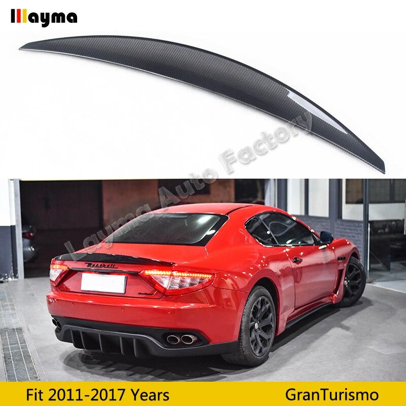 Nov style Carbon fiber rear trunk spoiler For Maserati Gran Turismo 4 2T Coupe 2011 2017