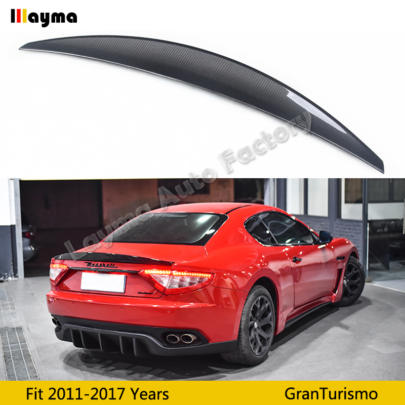 Nov style Carbon fiber rear trunk spoiler For Maserati Gran Turismo 4.2T Coupe 2011-2017 year GT car spoiler wing