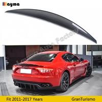 Nov style Carbon fiber rear trunk spoiler For Maserati Gran Turismo 4.2T Coupe 2011 2017 year GT car spoiler wing