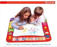 Miễn phí vận chuyển 80x60 cm Nước Vẽ đồ chơi Mat Aquadoodle Mat & 2 magic Pen/Nước Vẽ bảng/bé chơi Mat Kids Stencil WJ027