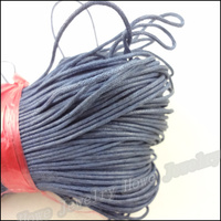 1 Strand 84M Deep Blue Color Waxed Cotton Cords Fit DIY Bracelet Necklace Jewelry Making