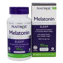 Бесплатная доставка мелатонин 10 мг улучшенная Формула для улучшения сна засыпать быстрее засыпать дольше 60 шт