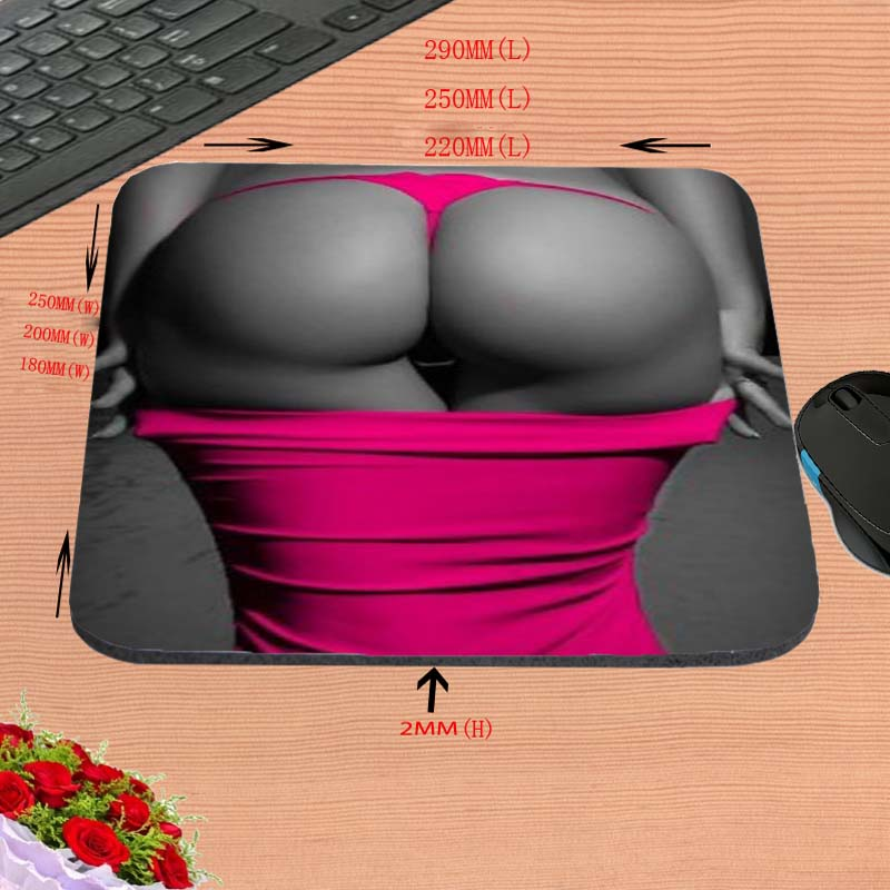 Sexy Ass Wholesale Custom Hot Sell Print Anti-slip New Arrival Customized Mouse Pad Computer PC Nice Gaming Mousemat As Gift