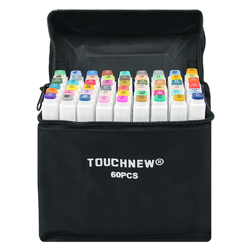 TOUCHFIVE 12/24/30/40/60/80Colors Art Markers Pen Alcohol Based Cheap Marker Manga Drawing Markers Art Supplies image