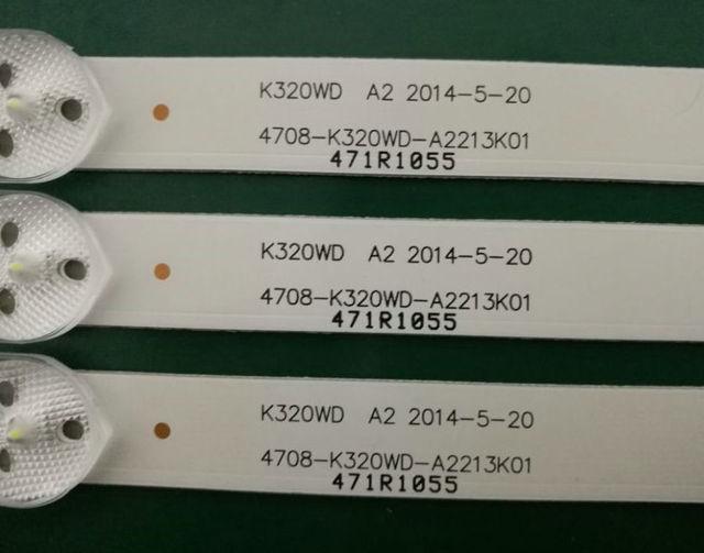 620mm 8 LED Della Lampada di Retroilluminazione per 4708 K320WD A2213K01 LE32D59 32PFL3045 K320WD6 471R1055 32PFL3045/T3 LE32D8800 D32KH1000 K320WD1