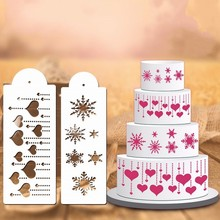 Bakeware Tool 4 Pcs Style Baking Kitchen Accessories Flower Fondant Cake Decorating Tools Cake Stencil Template