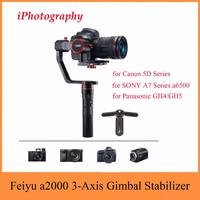 Feiyu Tech Feiyu a2000 3 Axis Gimbal Stabilizer for Canon 5D Series, for SONY A7 Series a6500, for Panasonic GH4/GH5,Dual Handle