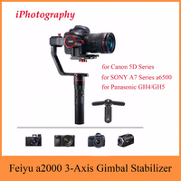 Feiyu Tech Feiyu a2000 3 Axis Gimbal Stabilizer for Canon 5D Series, for SONY A7 Series a6500, for Panasonic GH4/GH5,Dual Handle