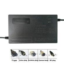 Lifepo4 cargador de batería de litio para bicicleta eléctrica 36V, 1,8a, 2A, 3A, 5A, 42V, 43,8 V, BMS, carga rápida