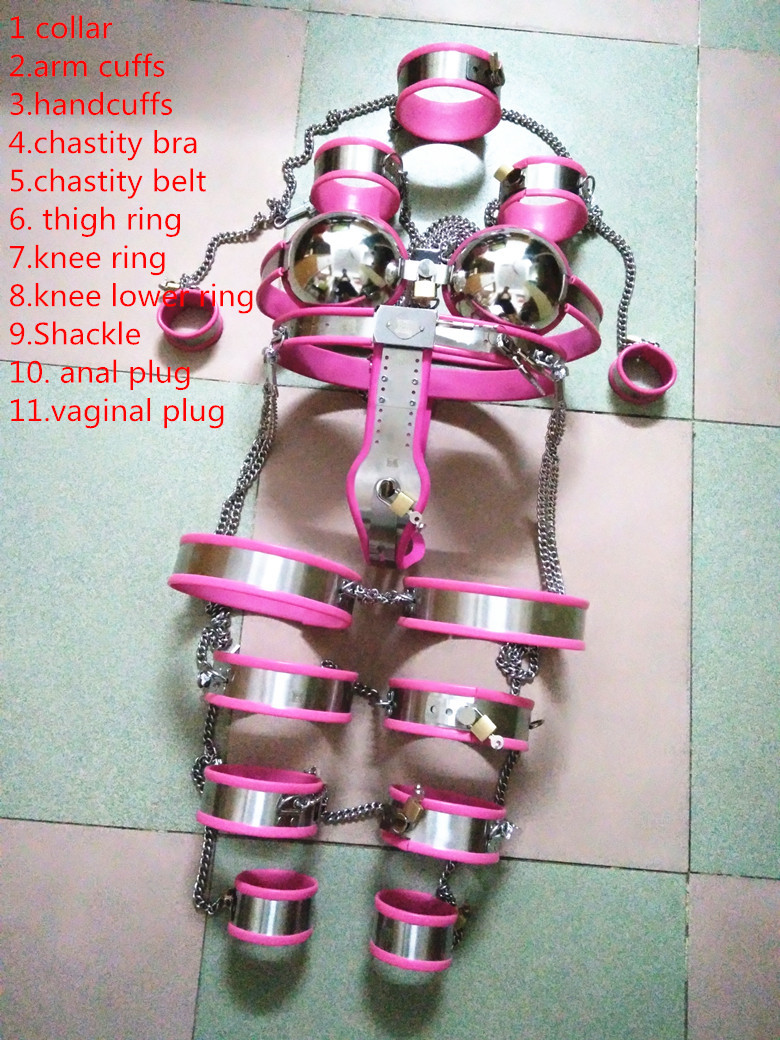 Sex tools shop new 11 pcs/set female chastity belt sex toys bdsm bondage restraint fetish toys adult sex slave games for women. grey cat grey cat gr017ewhzs39