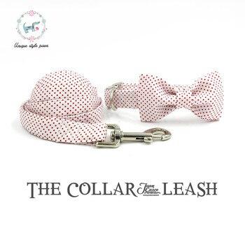 Collier et laisse pour chien avec noeud papillon en coton collier pour chien et chat et laisse pour chien pour cadeau de noël pour animaux de compagnie
