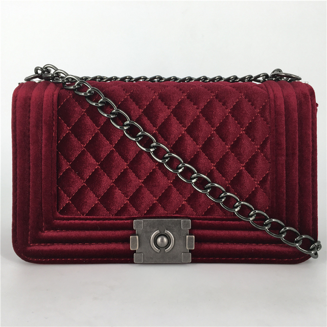 Amarte Women Messenger Bags Brand Luxury Handbags Women Bags Designer  Velvet Small Chain Shoulder Crossbody Bags For Women
