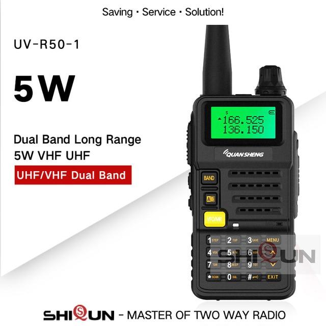 Ham Radio for Hunting UV R50 2 Quansheng 5W Dual Band VHF UHF 136 174Mhz/400 520Mhz Walkie Talkie UV R50( 1) Baofeng UV 82 UV 5R
