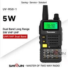 Rádio ham para a caça UV R50 2 quansheng 5 w banda dupla vhf uhf 136 174 mhz/400 520 mhz walkie talkie UV R50 ( 1) baofeng UV 82 UV 5R