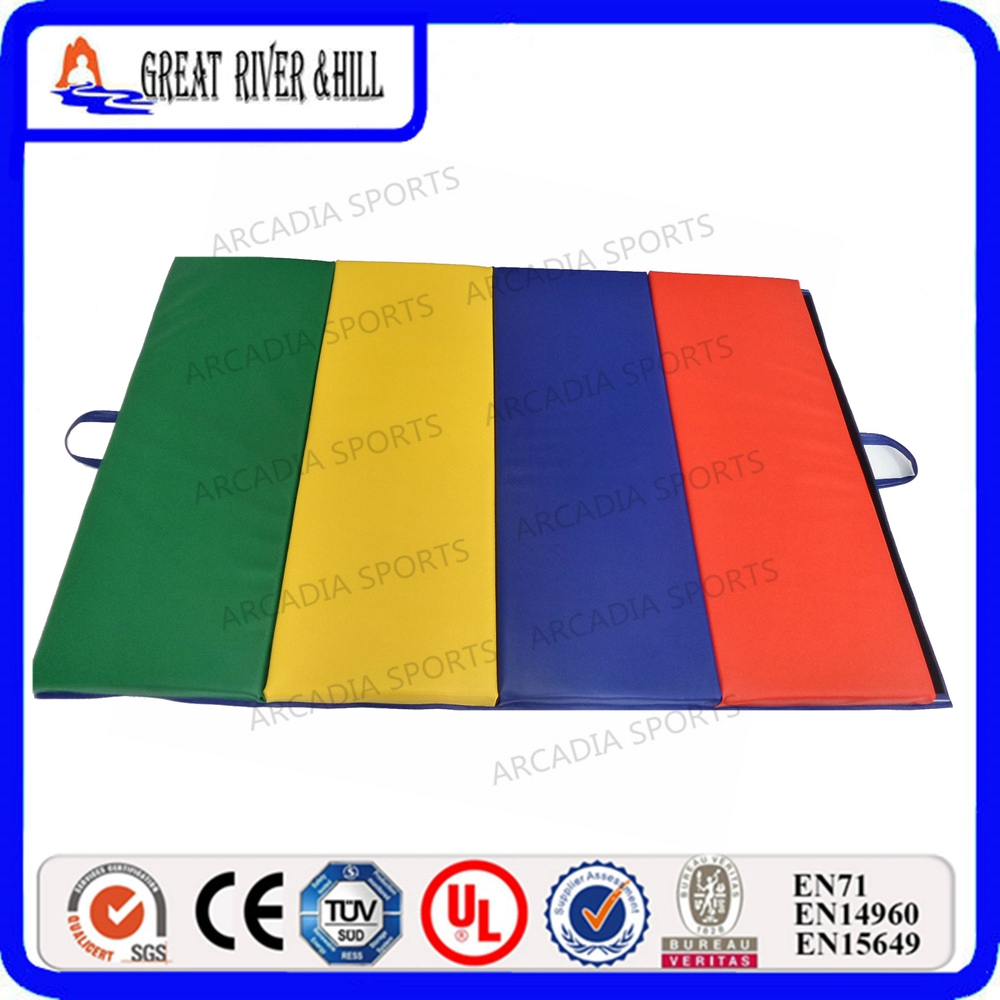 Folding Type Used Gym Mats Home practice Cheap 2.4mx1.2mx5cm Gymnastic Mats