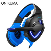 ONIKUMA K1 Gaming Headset Best Stereo Headphones Gamer Casque For PS4 New Xbox One With Microphone