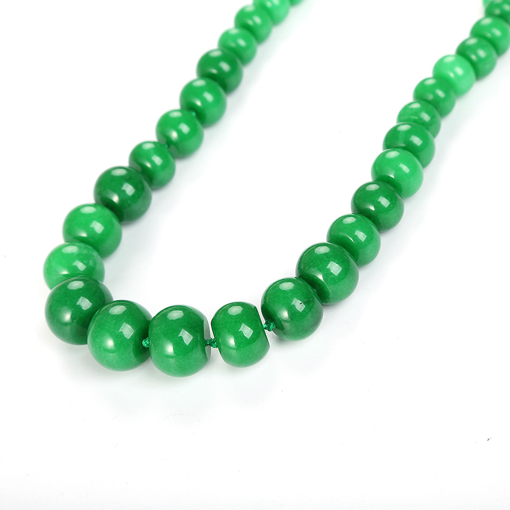 Yumten Green Jasper Necklace Beads Women Statement Jewelry Natural Stone Accessories Vintage Crystal Chain Men Ethnic Choker in Necklaces from Jewelry Accessories