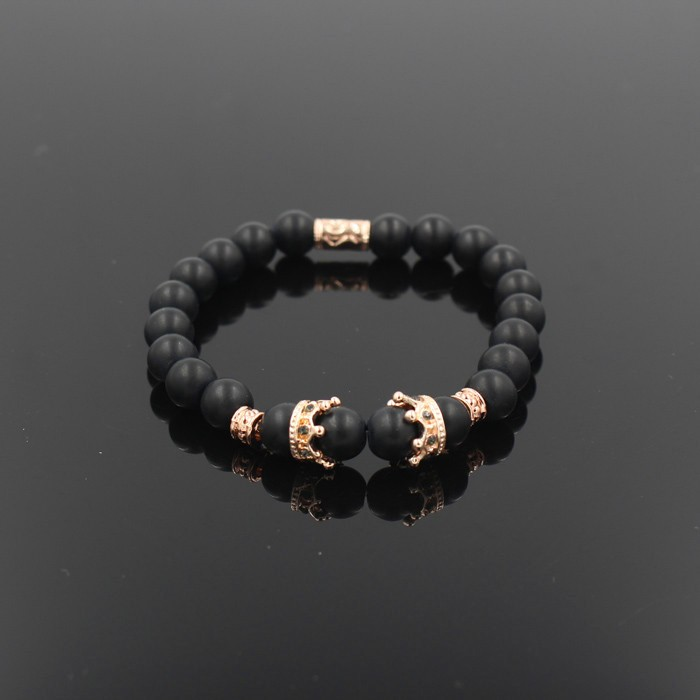 gold-imperial-crown-with-natural-matt-stone-black-bracelet-1