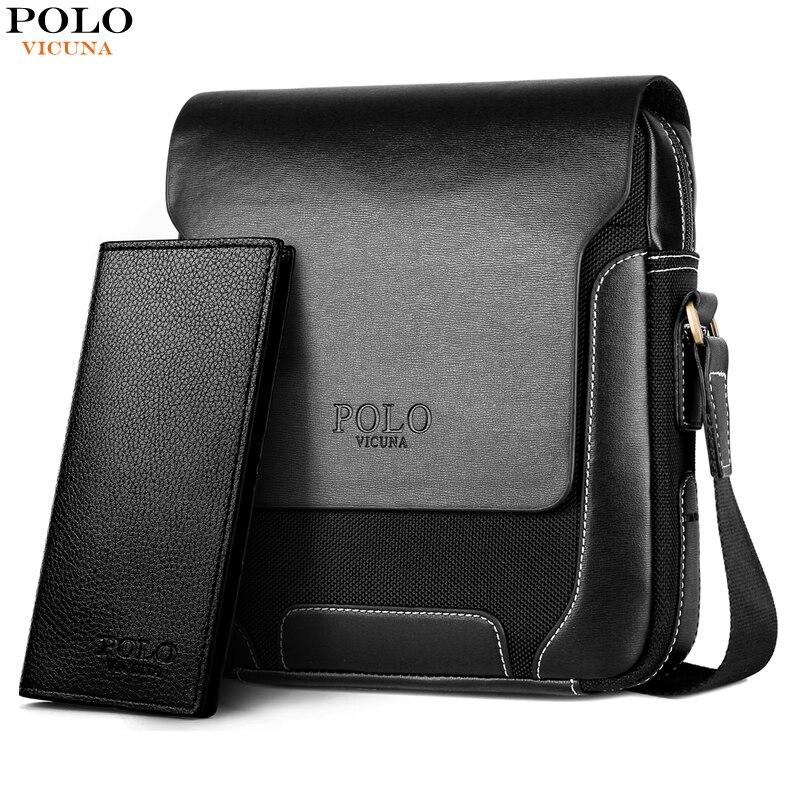 VICUNA POLO Breathable Luxury Messenger Bag Men Leather Laptop Handbag Vintage Crossbody Bag Leisure Man Waterproof Shoulder Bag