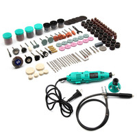 Mini Drill Dremel Electric Rotary Tool Multi function Portable Grinder and Accessories 252PCS DIY Polishing Abrasive Tools Kit