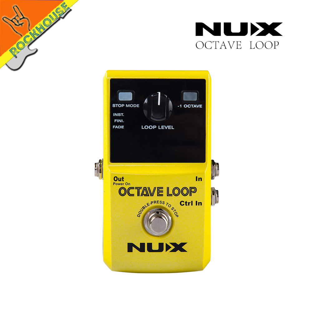 NUX Octave Loop Guitar Pedal Looper Guitar Pedal Looping Station 5 minute Recording Time with Octave Effects Free shipping nux octave loop looper pedal 1 octave effect infinite layers with bass line true bypass 3 modes guitar single block effector