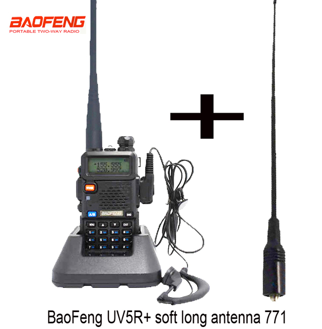Radio Portable Baofeng UV-5R radio bidirectionnelle talkie-walkie double bande uv 5r avec double large bande SMA-F femelle antenne souple 771
