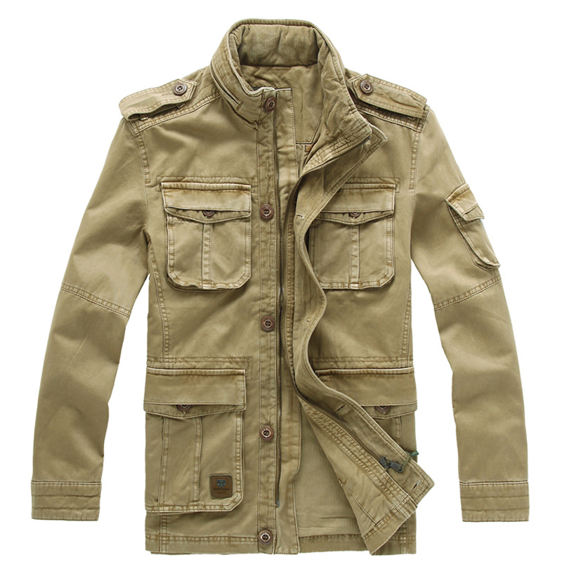 Size M 5XL New Winter Denim Jacket Men Outdoors Casual 100 Cotton Parka Military Coat Army