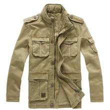 Größe M-5XL Neue Winter Jeansjacke Männer Freien Casual 100% Baumwolle Parka Militärmantel Armee Grün Khaki Schwarzen Mantel JF8205