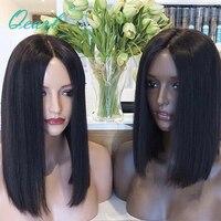 Qearl глубокий длинные пробор 360 кружева фронтальной парик короткие Боб Cut Стиль парик 8 16 360 парик реальных человеческих волос, парики