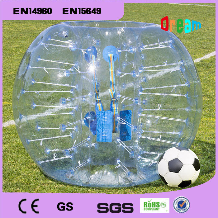 Gratis forsendelse 0.8mm TPU Bumper Ball Bubble Soccer Ball Opblussen Body Zorb Ball Suit Bubble Soccer Bubble Fodbold Loopyball